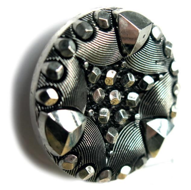 Bouton à pied pointe de diamant 22mm à 27mm