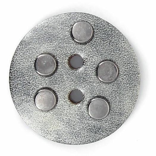 Bouton 2 trous cuir et clous 32mm à 52mm