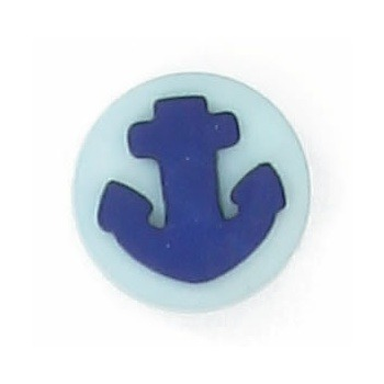 Boutons enfant ancre turquoise et marine  12mm