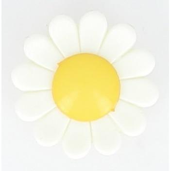 Boutons enfant marguerite blanche et jaune . 15mm