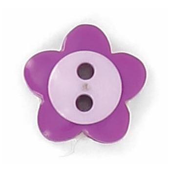 Boutons enfant fleur violet et parme.  15mm