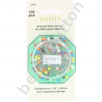 Epingles tête plastique couleur34mm mpc 100