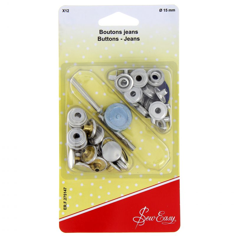 Boutons jeans 15mm x 10