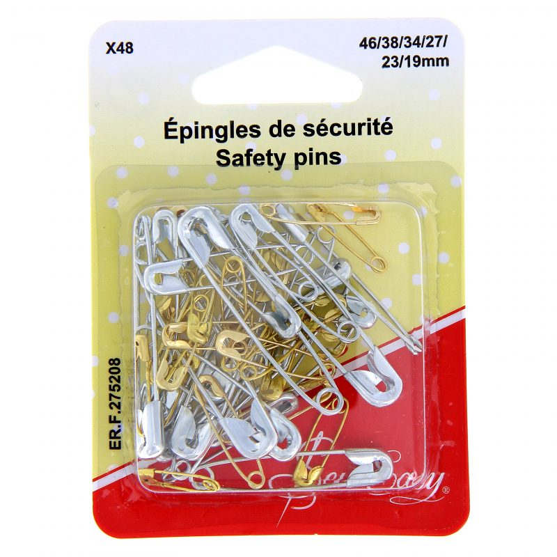 Epingles de securite ass. x 48