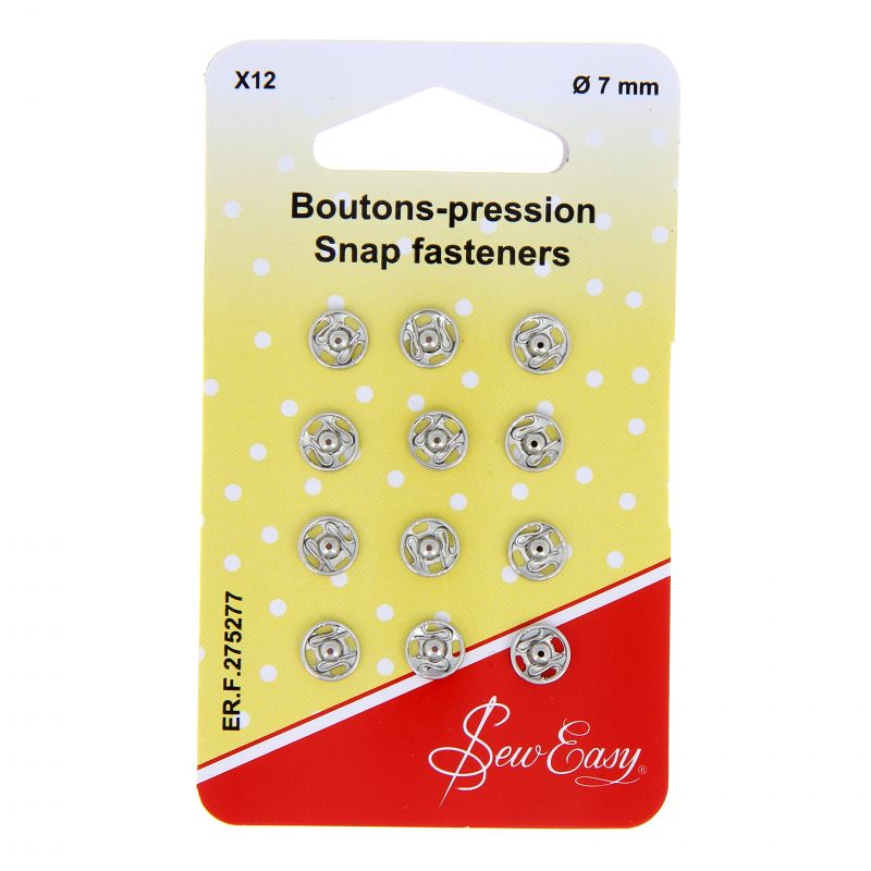 Boutons pression 7mm