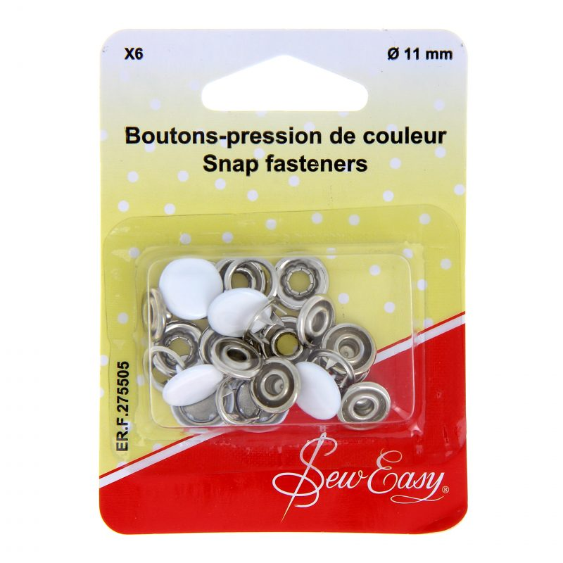 Boutons pression couleur 11mm