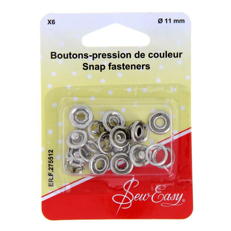 Boutons pression couleur 11mm