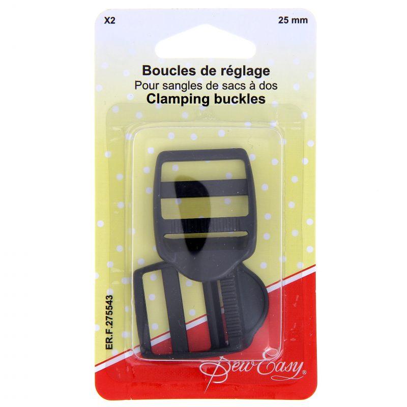 Boucles reglage sangle et sac a dos 25mm