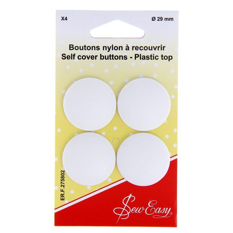 Boutons nylon a recouvrir 29mm x 6