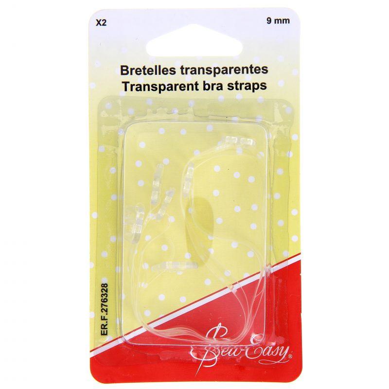 Bretelles transparentes 9mm