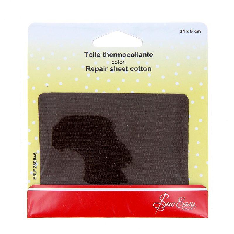 Toile thermocollante  - marron - 24 x 9 cm