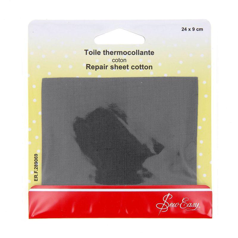 Toile thermocollante  - gris f - 24 x 9 cm