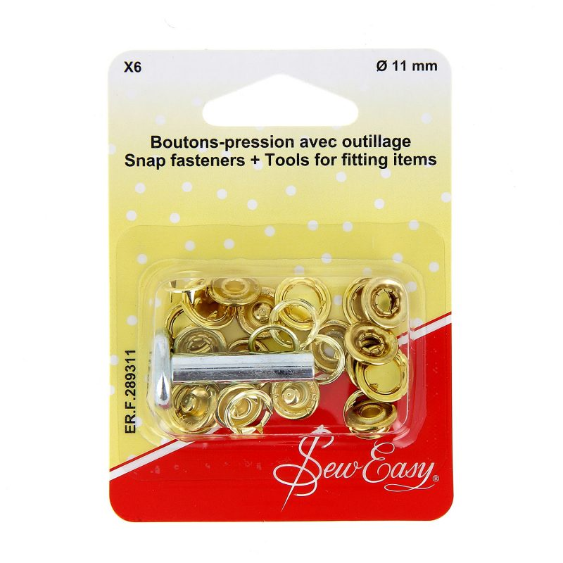 Boutons-pression x6 ?? - or -11 mm+ outillage