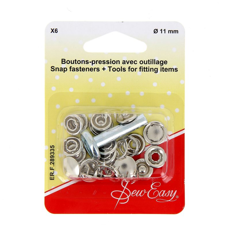 Boutons-pression x6 ?? - argent -11 mm+ outillage