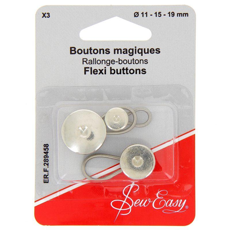 Boutons magiques  x3 Ø 11 - 15 - 19 mm
