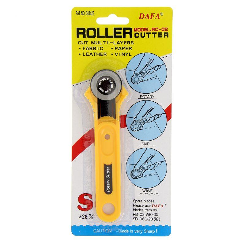 Cutter rotatif diam. 28 mm. lame droite