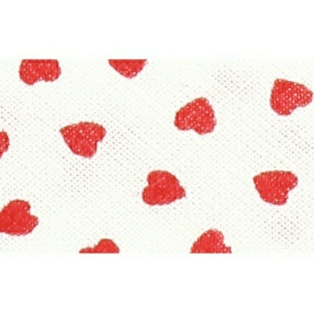 Mademoiselle  -  biais replié coeur  18mm