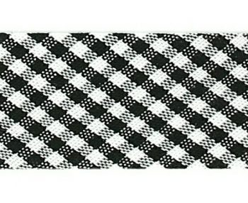 Mademoiselle  -  biais replié mini vichy  18mm