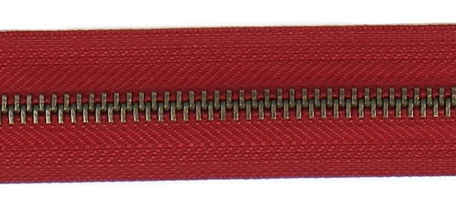 <strong>Fermeture laiton 6mm séparable</strong>  25cm à 85cm
