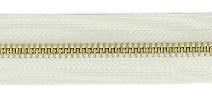 <strong>Fermeture laiton 6mm</strong> non séparable 5cm à 20cm