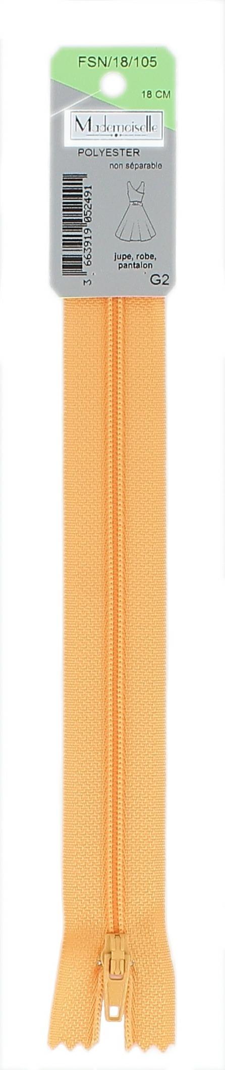 <strong>Fermeture spirale 4mm</strong> non séparable 10cm à 60cm