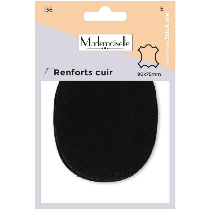 Mademoiselle  - renfort cuir  9x7,5cm (e)