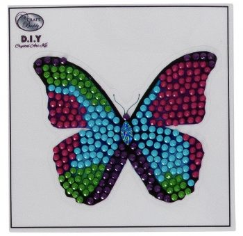 Crystal art kit sticker broderie diamant 9x9cm