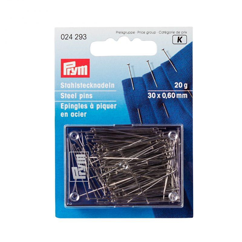 Epingles  a piquer n°6 acier argente  0,60 x 30 mm