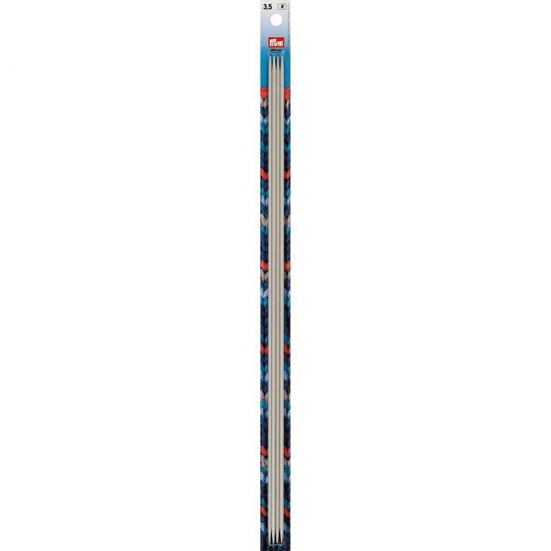 Aiguilles  tricot 2 pointes  aluminium gris 40 cm  3,50 mm