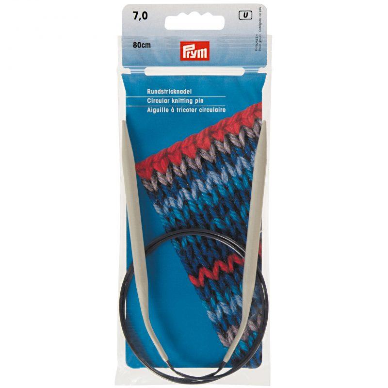 Aiguille  tricot circulaire    80 cm  7,00 mm