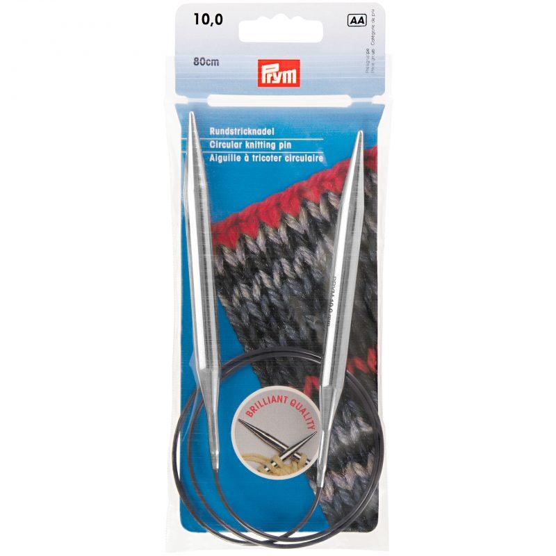 Aiguille  tricot circulaire laiton argent   80 cm  10,00 m