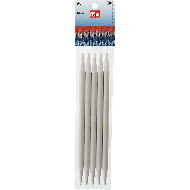 Aiguilles  tricot 2 pointes plastique 20 cm 9,00 mm
