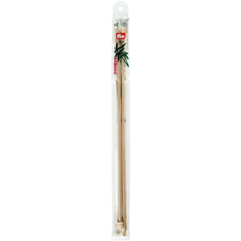 Aiguilles  tricot a boule bambou  33 cm  4,00 mm