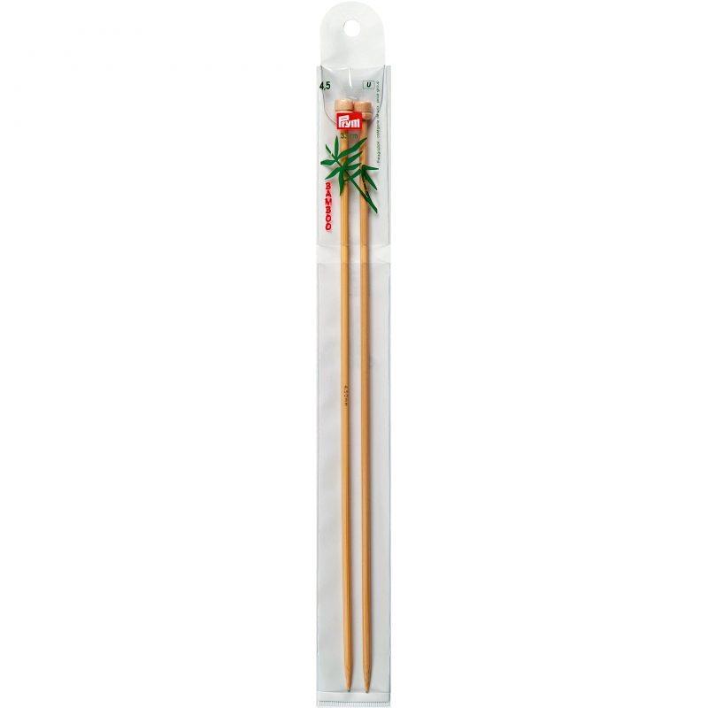 Aiguilles  tricot a boule bambou  33 cm  4,50 mm