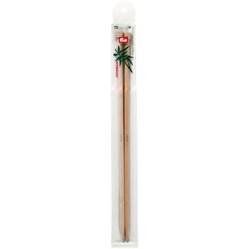Aiguilles  tricot a boule bambou  33 cm  7,00 mm