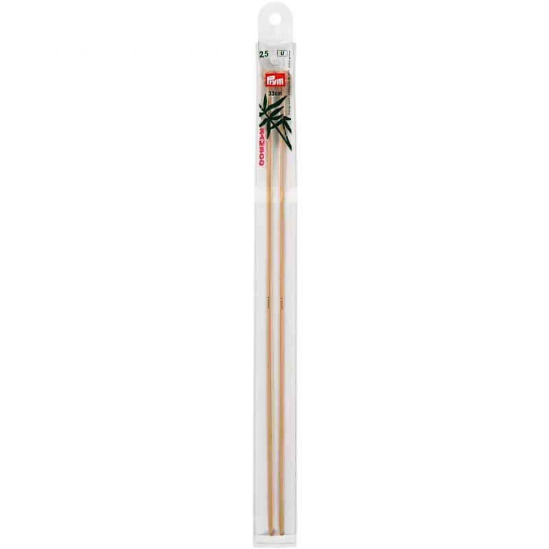 Aiguilles  tricot a boule bambou  33 cm  2,50 mm