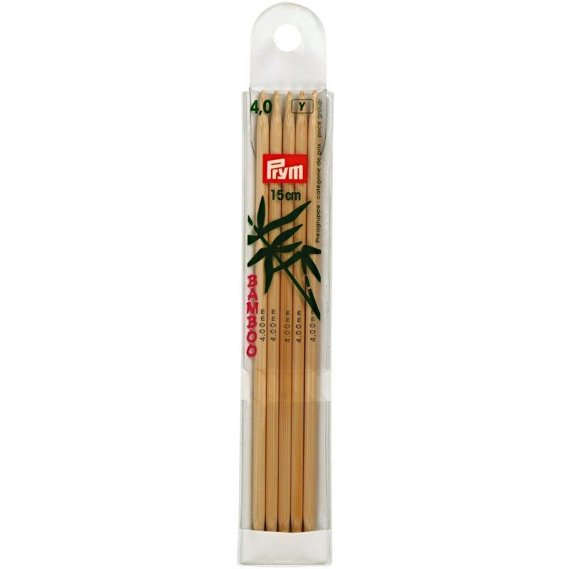 Aiguilles  tricot a boule bambou  15 cm  4,00 mm