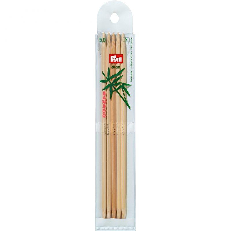 Aiguilles  tricot bambou 2 pointes 20 cm  5,00 mm