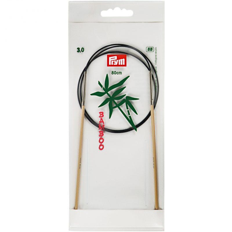 Aiguille  tricot circulaire bambou 80 cm  3,00 mm