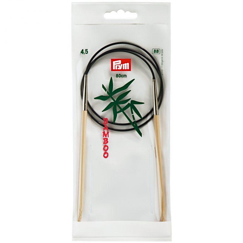 Aiguille  tricot circulaire bambou 80 cm  4,50 mm