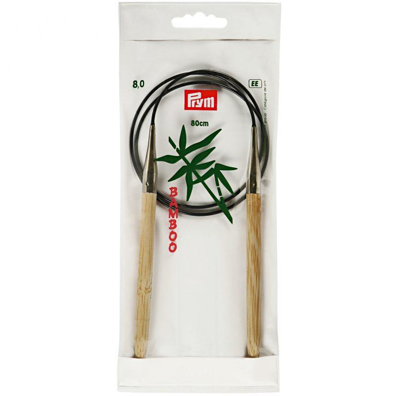 Aiguille  tricot circulaire bambou 80 cm  8,00 mm