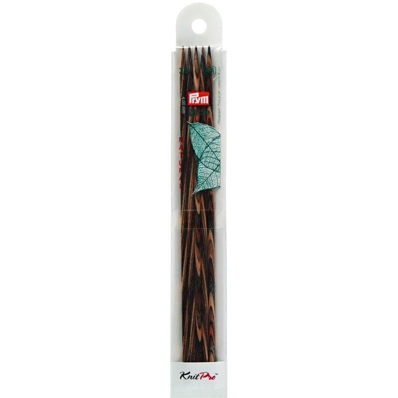 Aiguilles  tricot bois natural 2 pointes 20 cm 3,00 mm