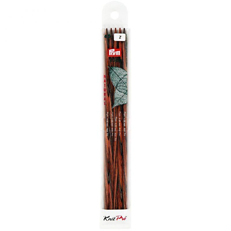 Aiguilles  tricot bois natural 2 pointes 20 cm 4,50 mm