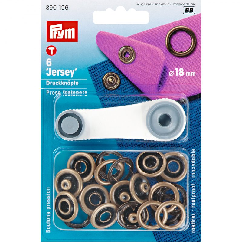Boutons  pression jersey 18 mm laiton antique