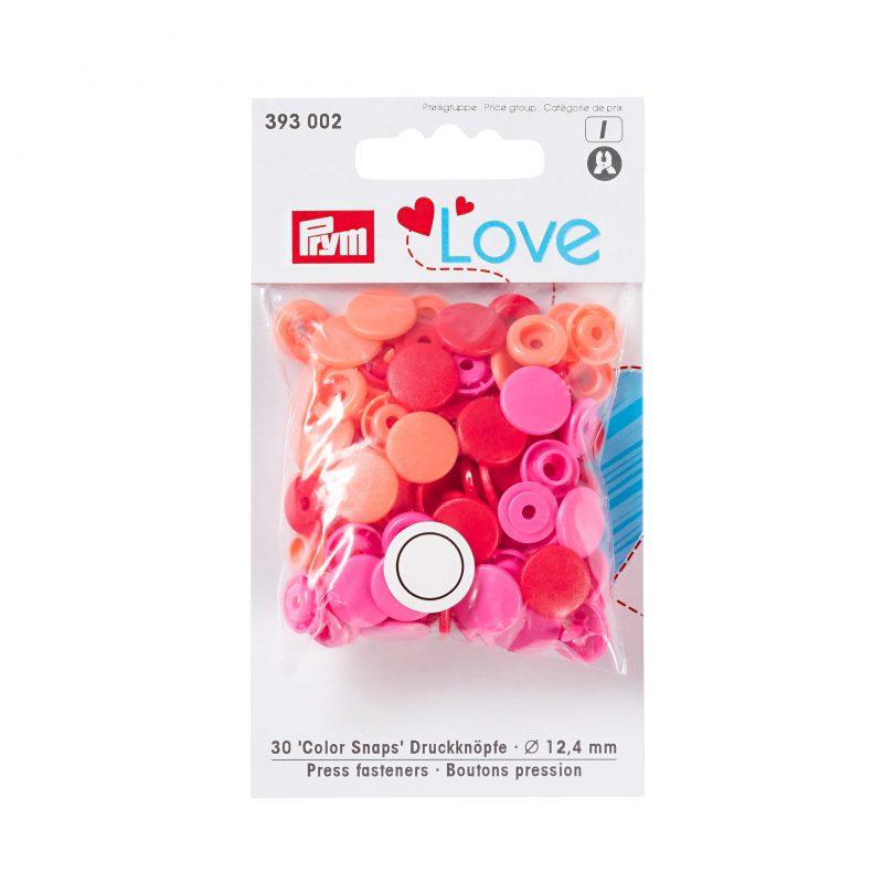 Prym love boutons pression plastique rouge 12 mm