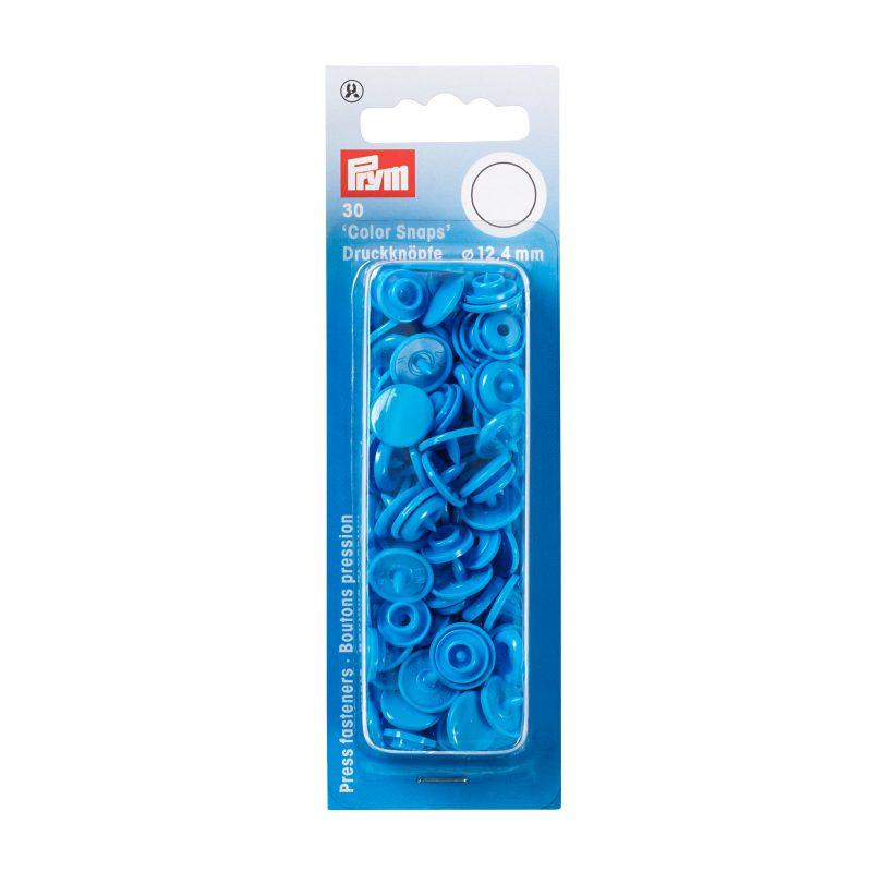 boutons pression  color snaps bleu d acier 12,4 mm