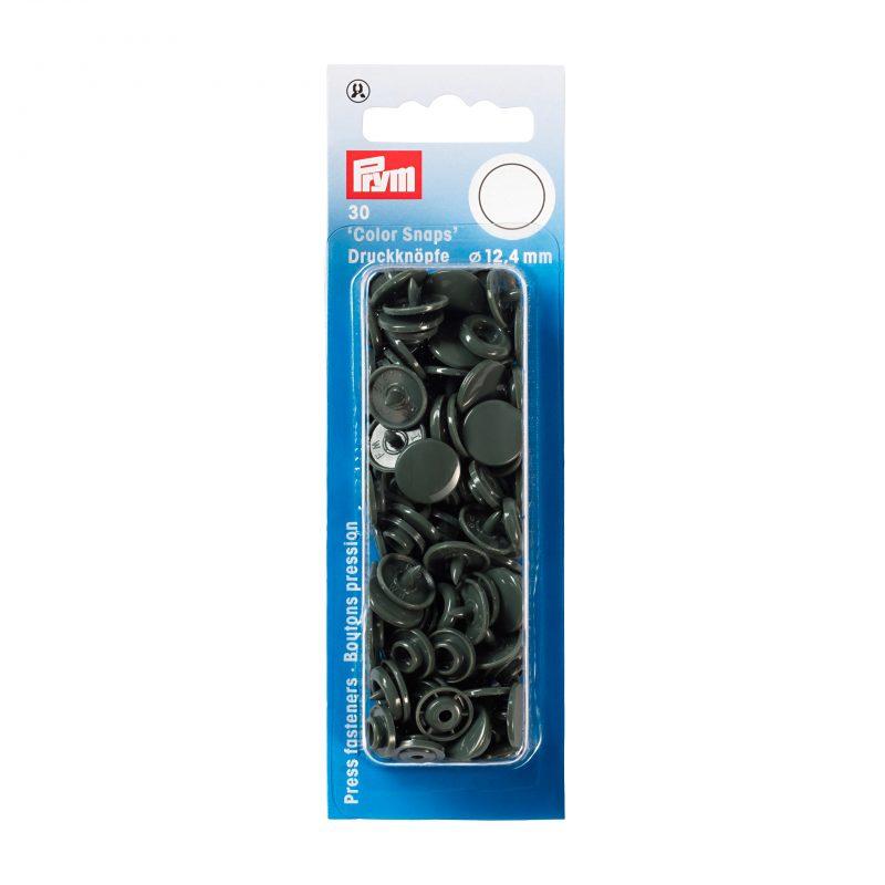 boutons pression  color snaps gris fonce 12,4 mm