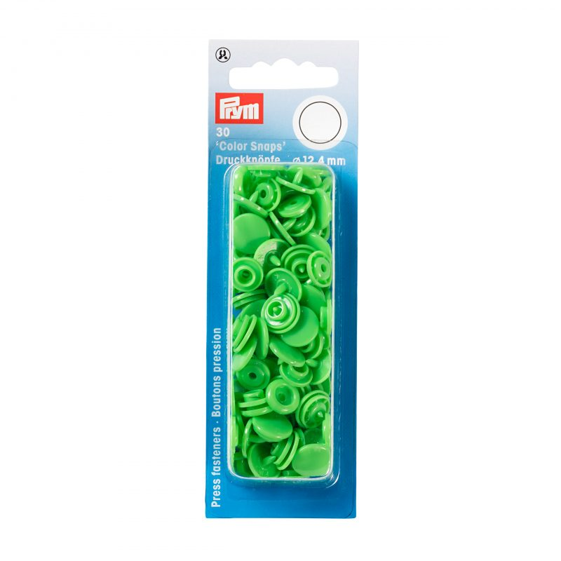 boutons pression  color snaps vert clair 12,4 mm
