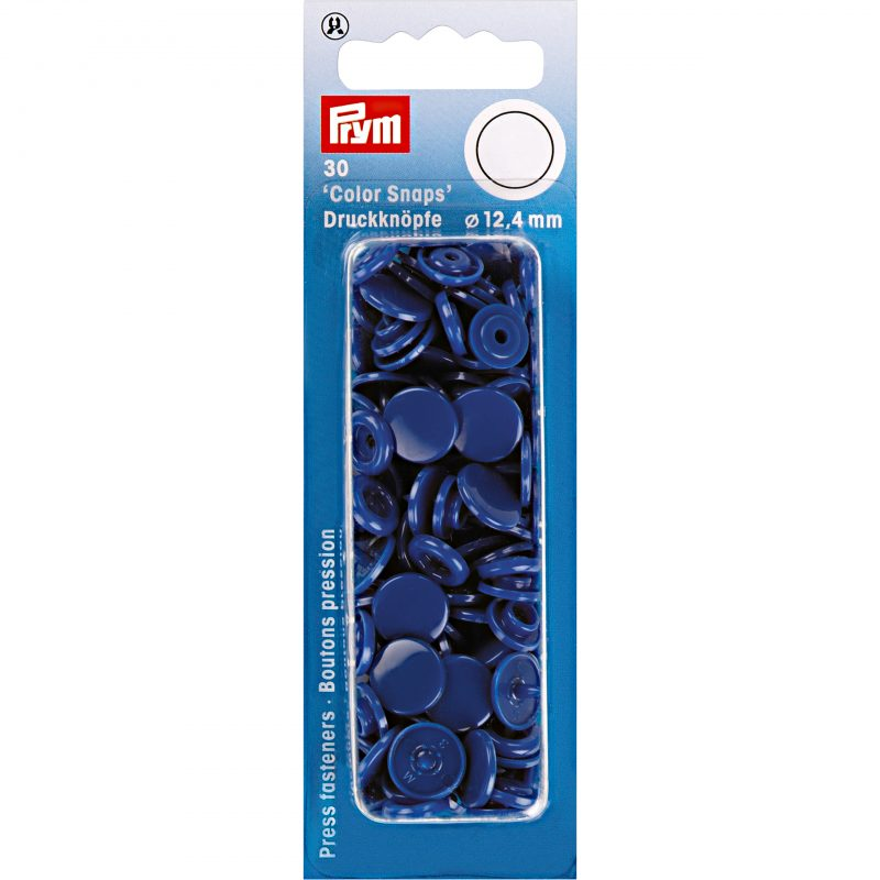 boutons pression  color snaps bleu royal 12,4 mm