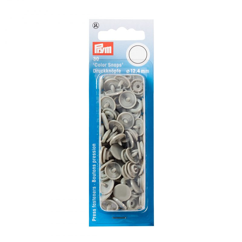 boutons pression  color snaps gris 12,4 mm
